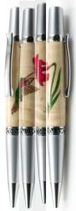 Humming Bird Wood Inlay Ballpoint